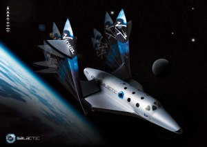 Picture of Virgin Galactic space ship at height of over 100km above the earth