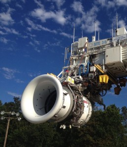 GE Engine with 3D Printed Parts