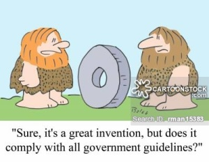 'Sure, it's a great invention, but does it comply with all government guidelines?'